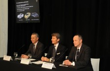 Maurizio Reggiani, Director of Research and Development; Stephan Winkelmann, President and CEO of Automobili Lamborghini S.p.A.; Raffaello Porro, Director of Communications and External Relations