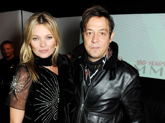 Kate Moss (L) and Jamie Hince attend the Rimmel London 180 Years of Cool party at the London Film Museum