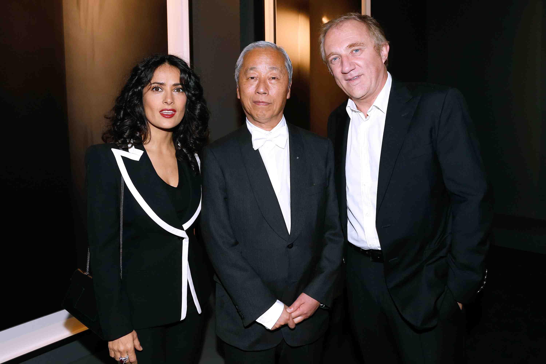 Boucheron Paris: Salma Hayek; Hiroshi Shugimoto; Francois-Henri Pinault