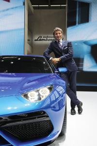 Stephan Winkelmann, CEO von Lamborghini bei einer Präsentation des Lamborghini Asterion