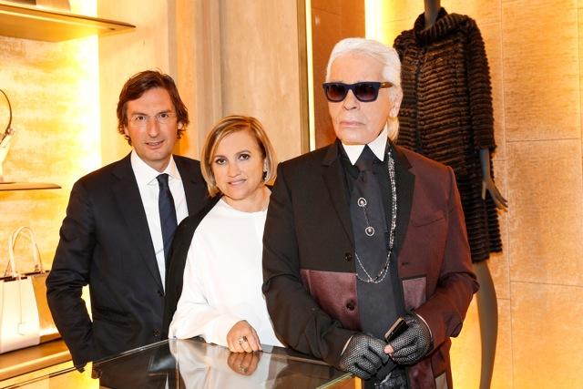 """Karl """"der Große"""" ruft: Stars und Glamour bei der Eröffnung der ersten Fendi Boutique in Deutschland"""