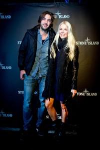 Max Wiedemann and Tina Kaiser bei der Stone Island, Party im P1 Club München
