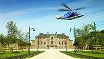 Per Helikopter zum Golfplatz