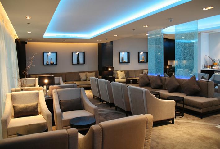 Die neu eröffnete Lounge von Oman Air am internationalen Flughafen von Bangkok.