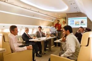 Bild 2_Das großzügige Interieur des Emirates Executive-Privatjets