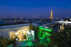 Hotel Raphael Paris_Terrasse bei Nacht