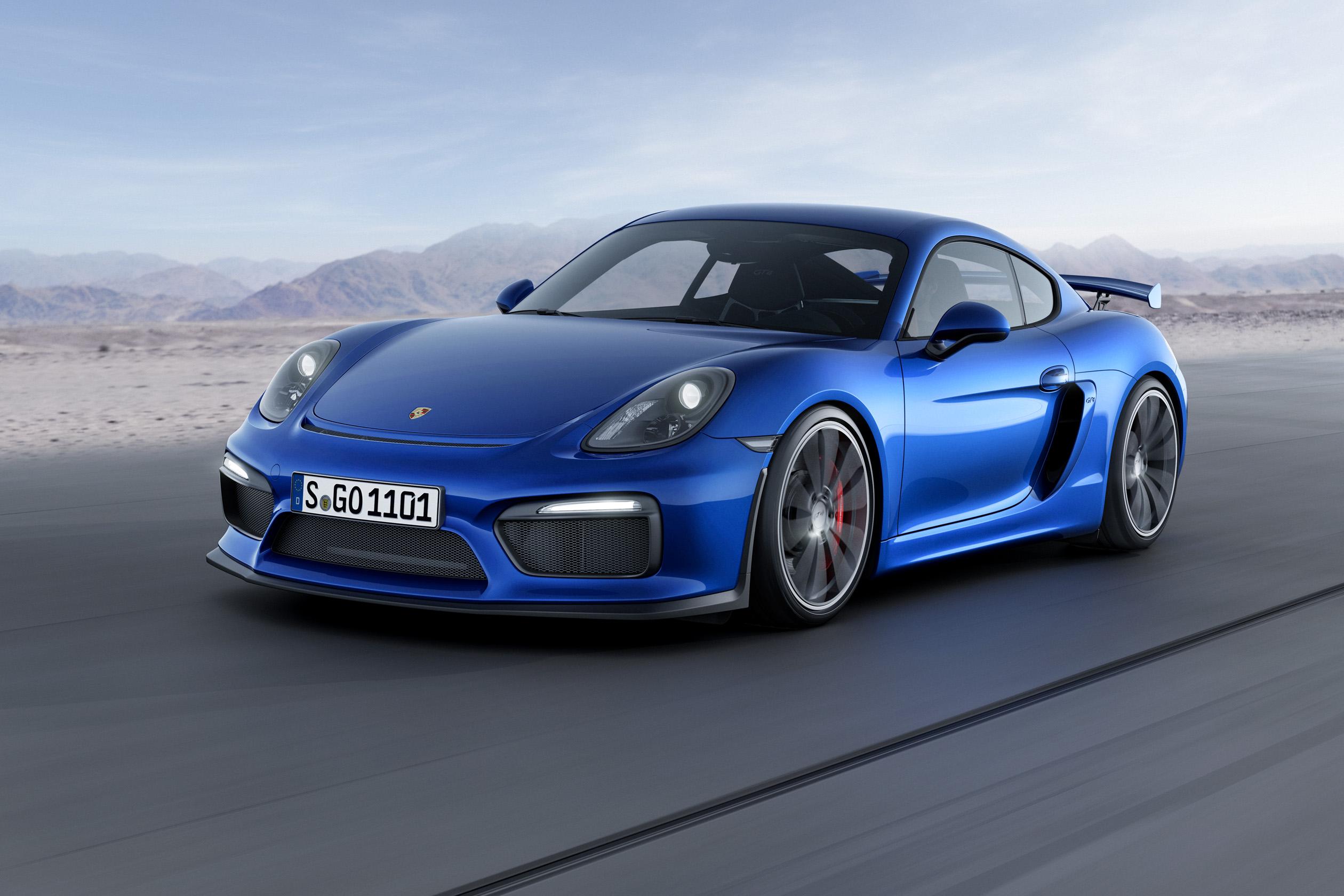Neues Mitglied in der GT-Familie von Porsche: der Cayman GT4