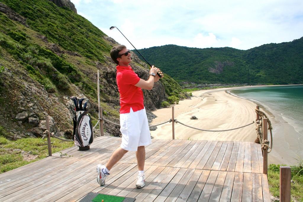 Delikatesse für Fische: Golfbälle im Six Senses Con Dao