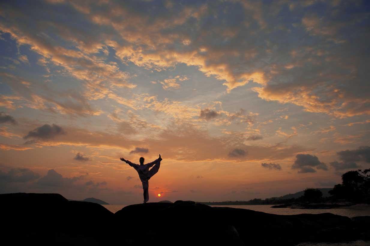 Entspannung pur: Morgenmeditation im Kamalaya Resort auf Koh Samui