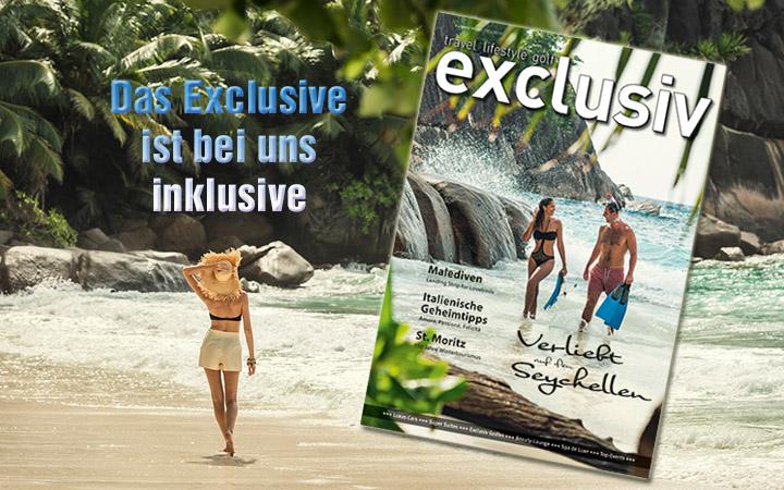 Ihr Abo bei magazin exclusiv, Travel, Livestyle, Golf
